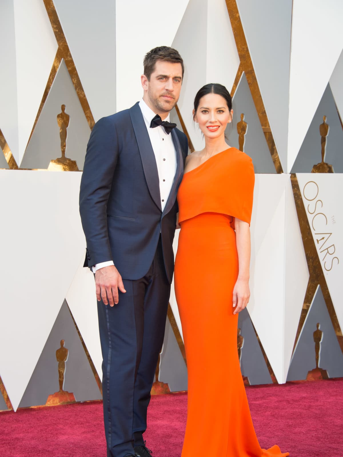 Olivia Munn and Aaron Rodgers at Oscars