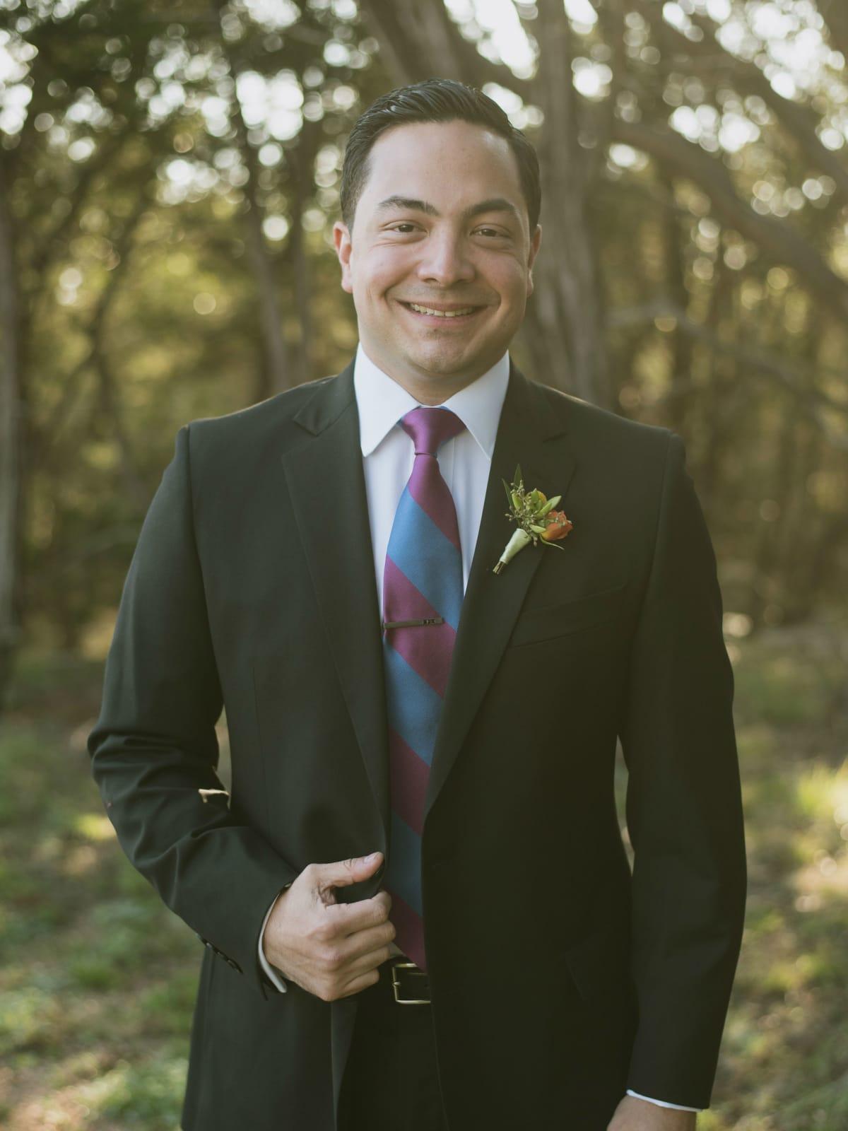 Heritage House wedding groom