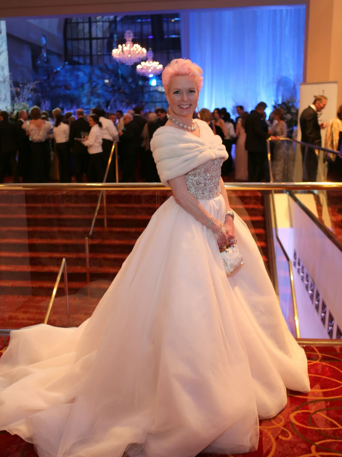 Houston Ballet Ball, Feb. 2016,  Vivian Wise in Stephen Yearick