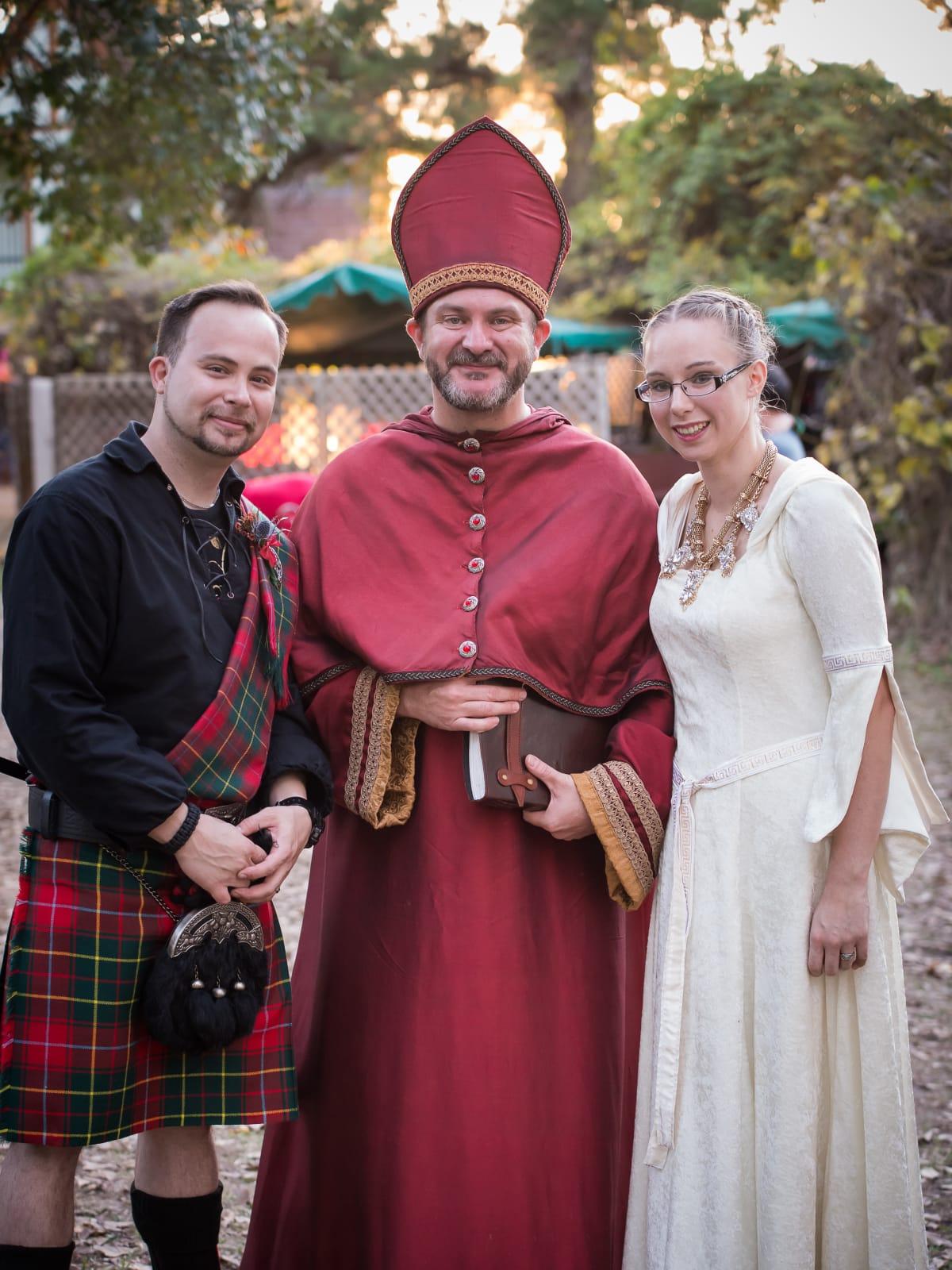 Renaissance Festival Weddings, Feb. 2016 Shane Burnett, Kristin Wilhite