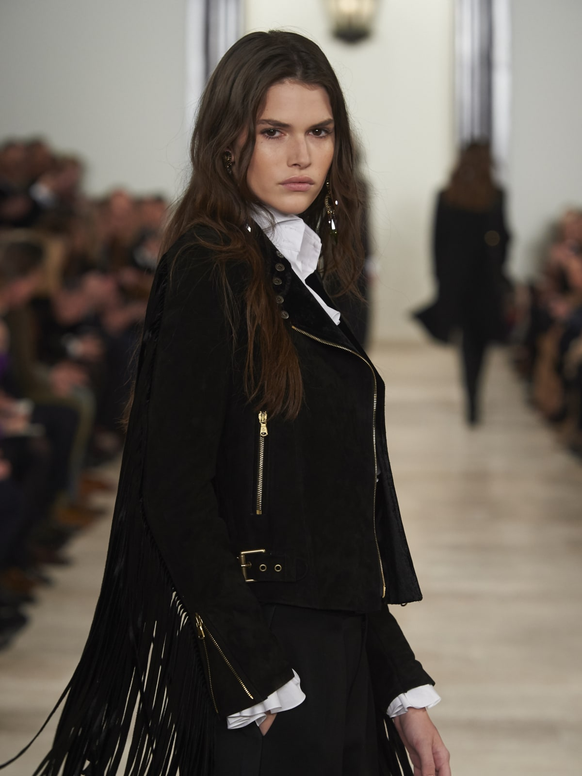 Ralph Lauren fall 2016 collection Look 35A fringe
