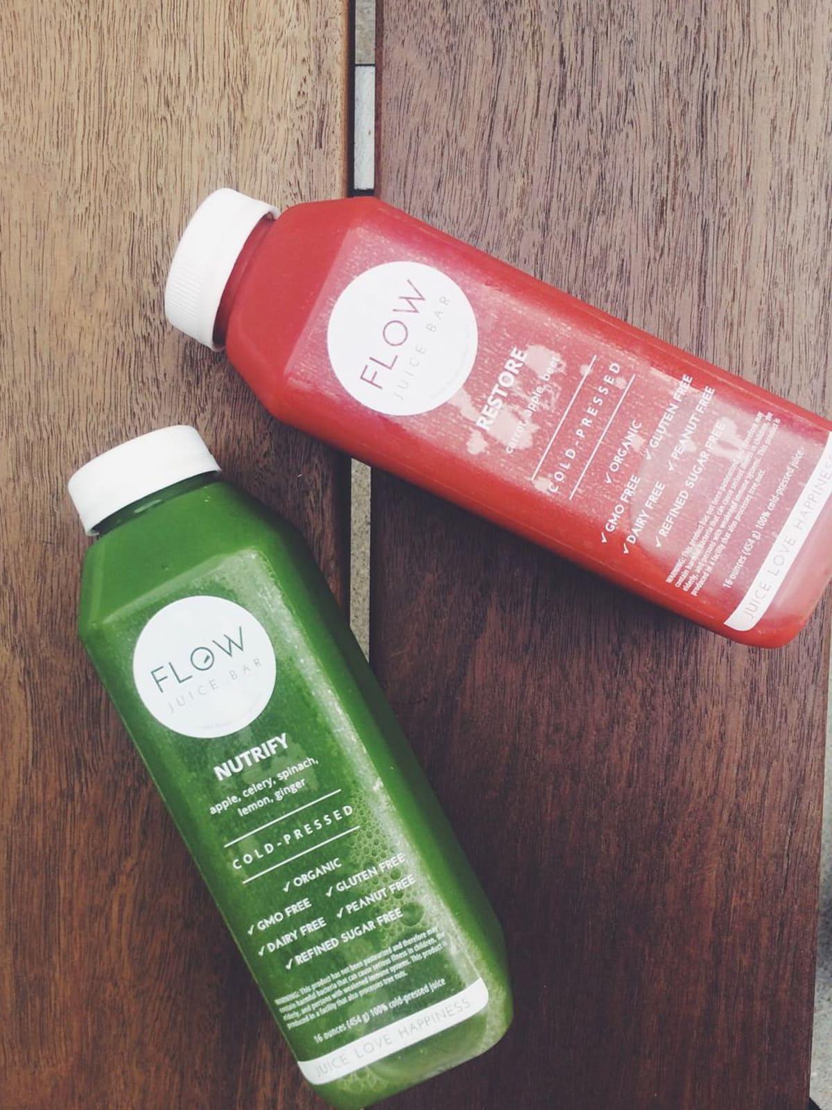Flow Juice Bar juices