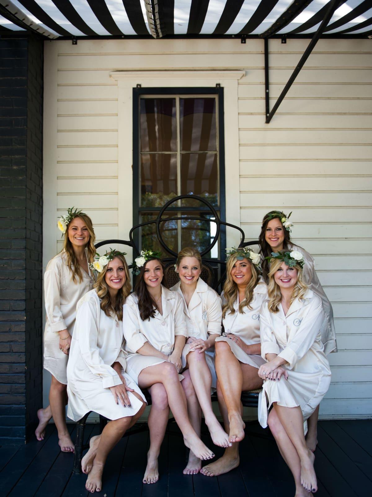 Katie Van Dyk Ben Nelson real wedding-bridesmaids