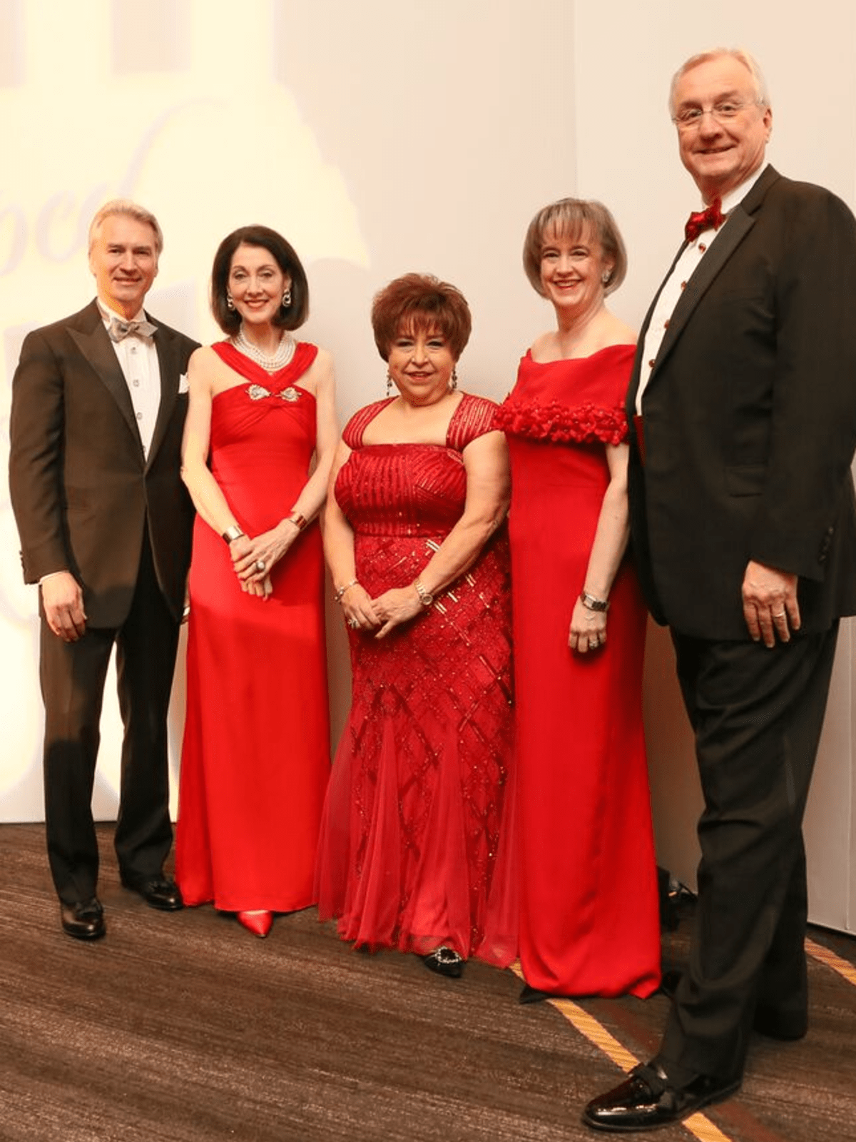 Red Cross Ball, Feb. 2016, Sanford Criner, Susie Criner, Trini Mendenhal, Dorothy Ables, Mickey Ables
