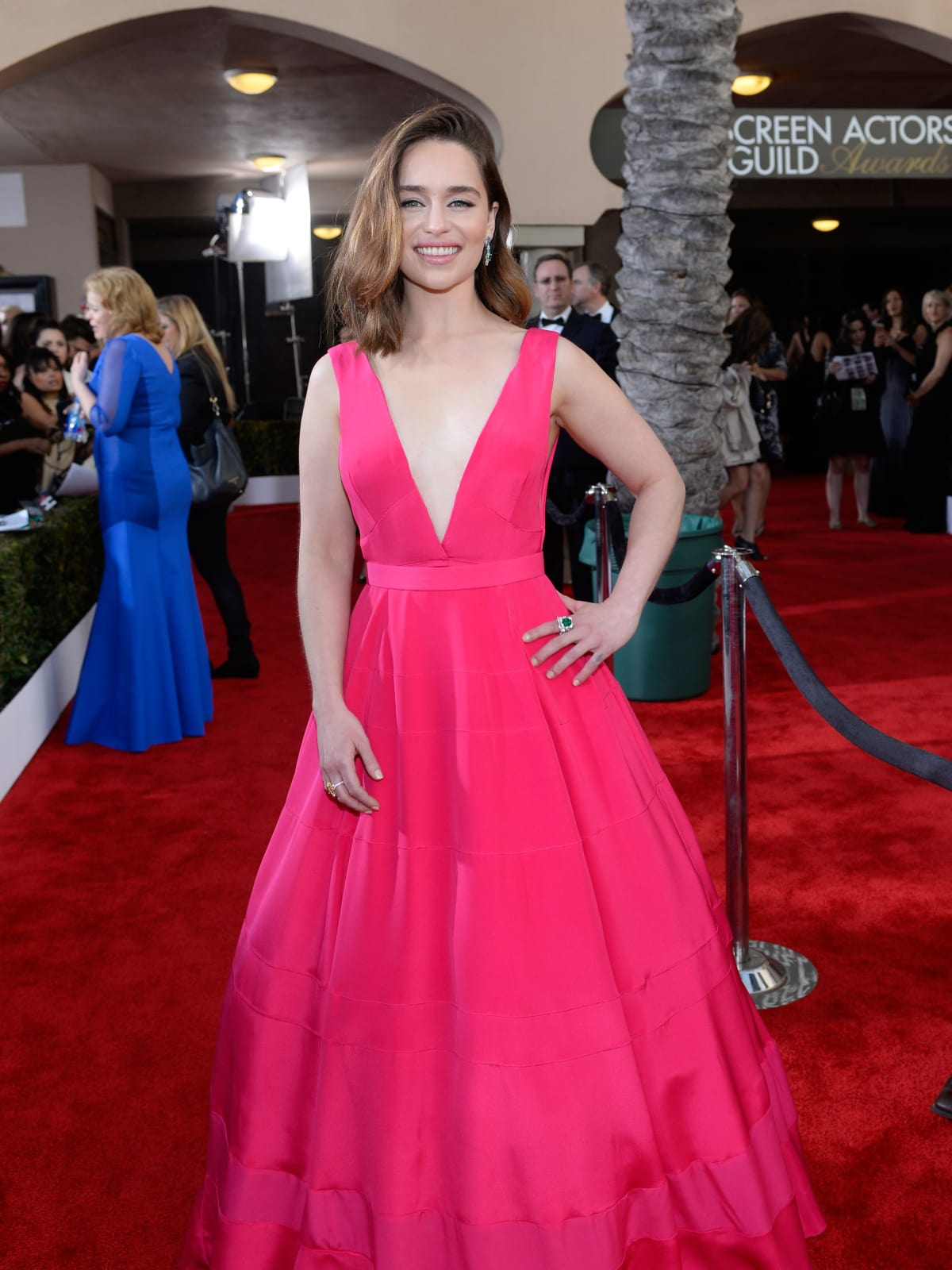 Emilia Clarke at the Screen Actors Guild awards