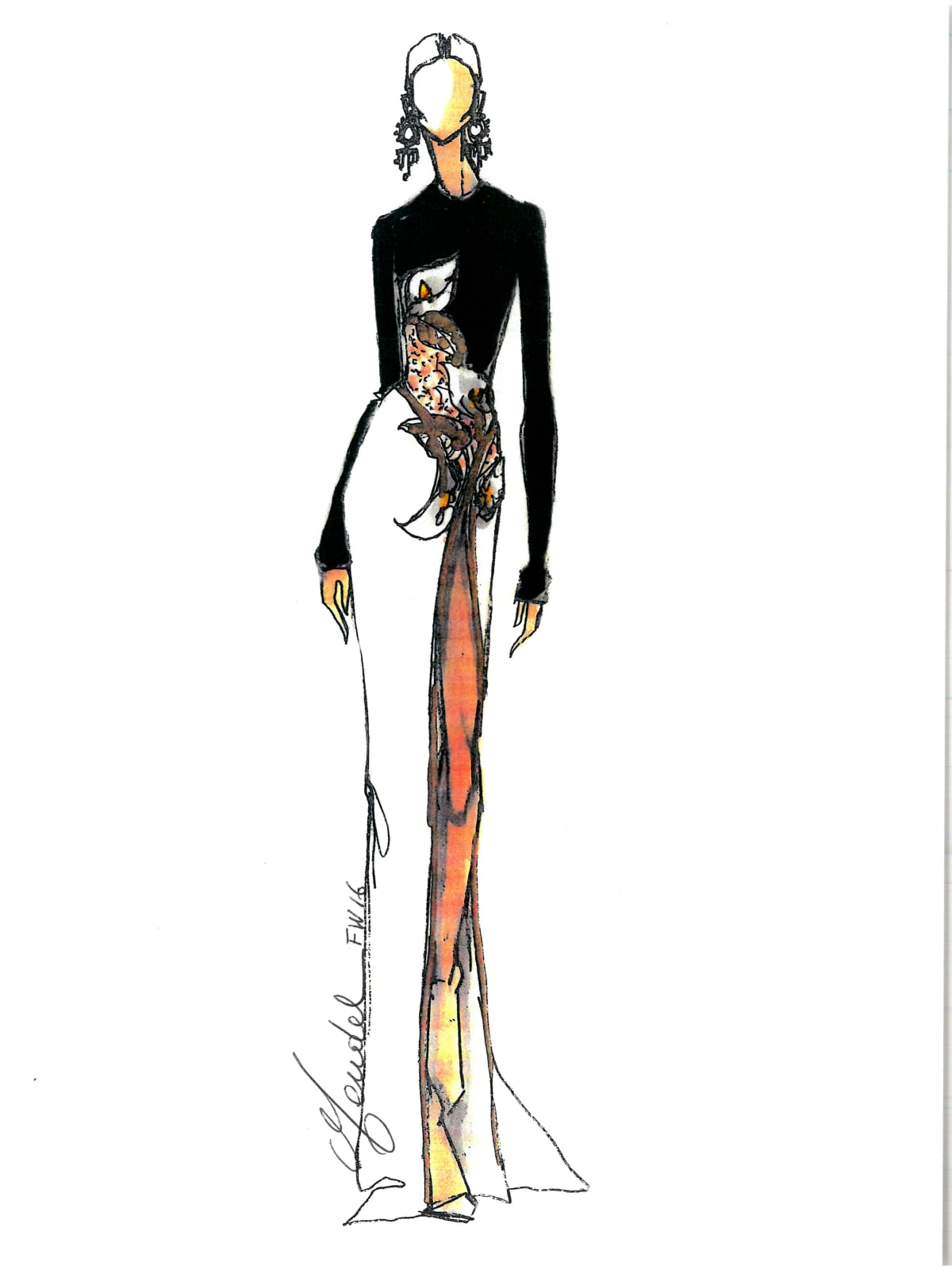 J.Mendel sketch fall 2016 fashion