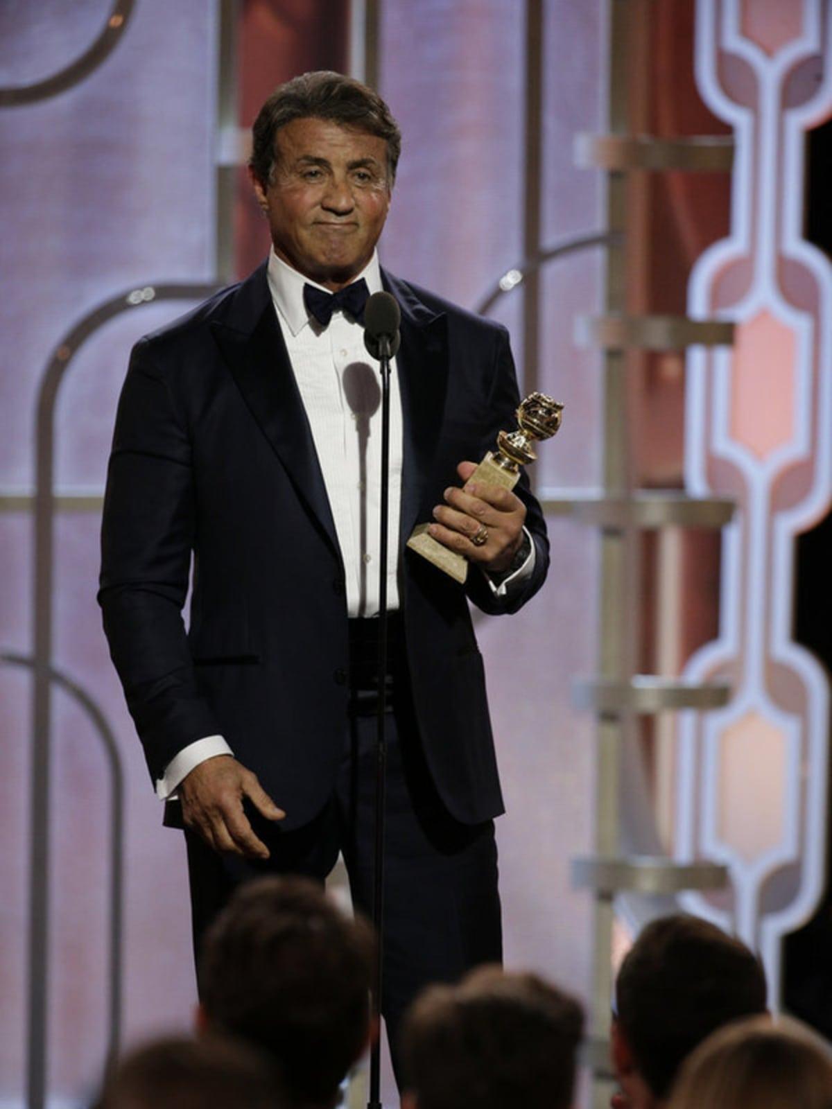 Sylvester Stallone at Golden Globe Awards