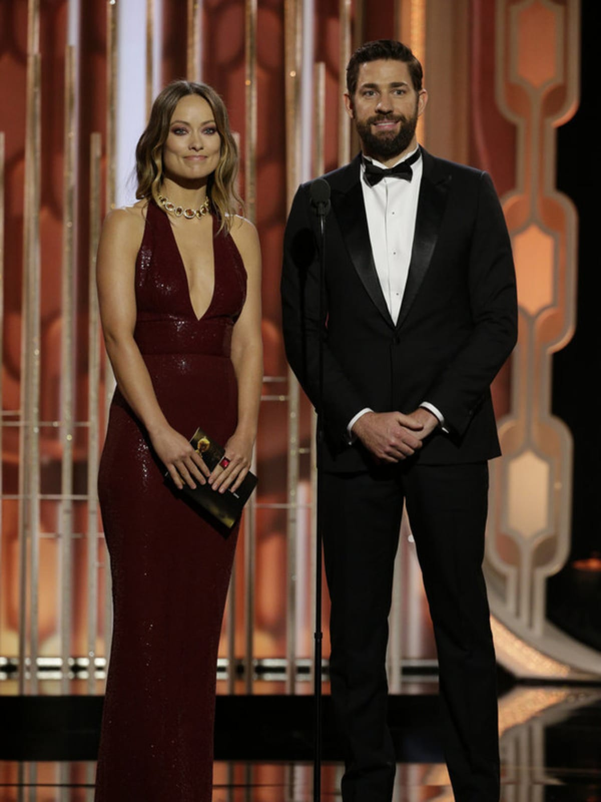 Olivia Wilde and John Krasinski at Golden Globe Awards