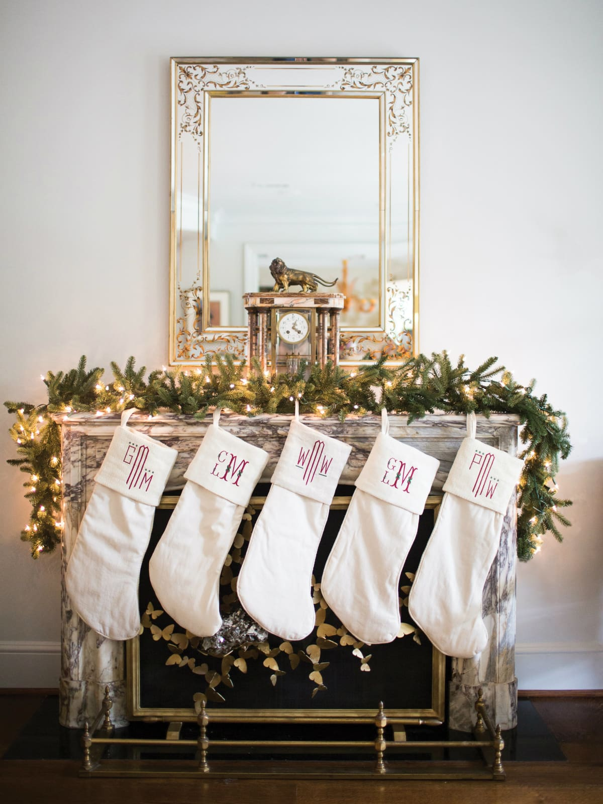 Monogrammed stockings