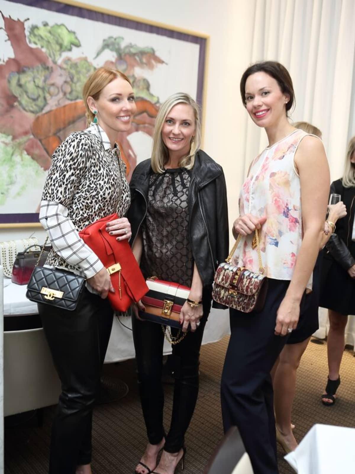News, Shelby, Heroes & Handbags kick-off, Nov. 2015, Natalie King, Chandra Bonine, Rachel Brown