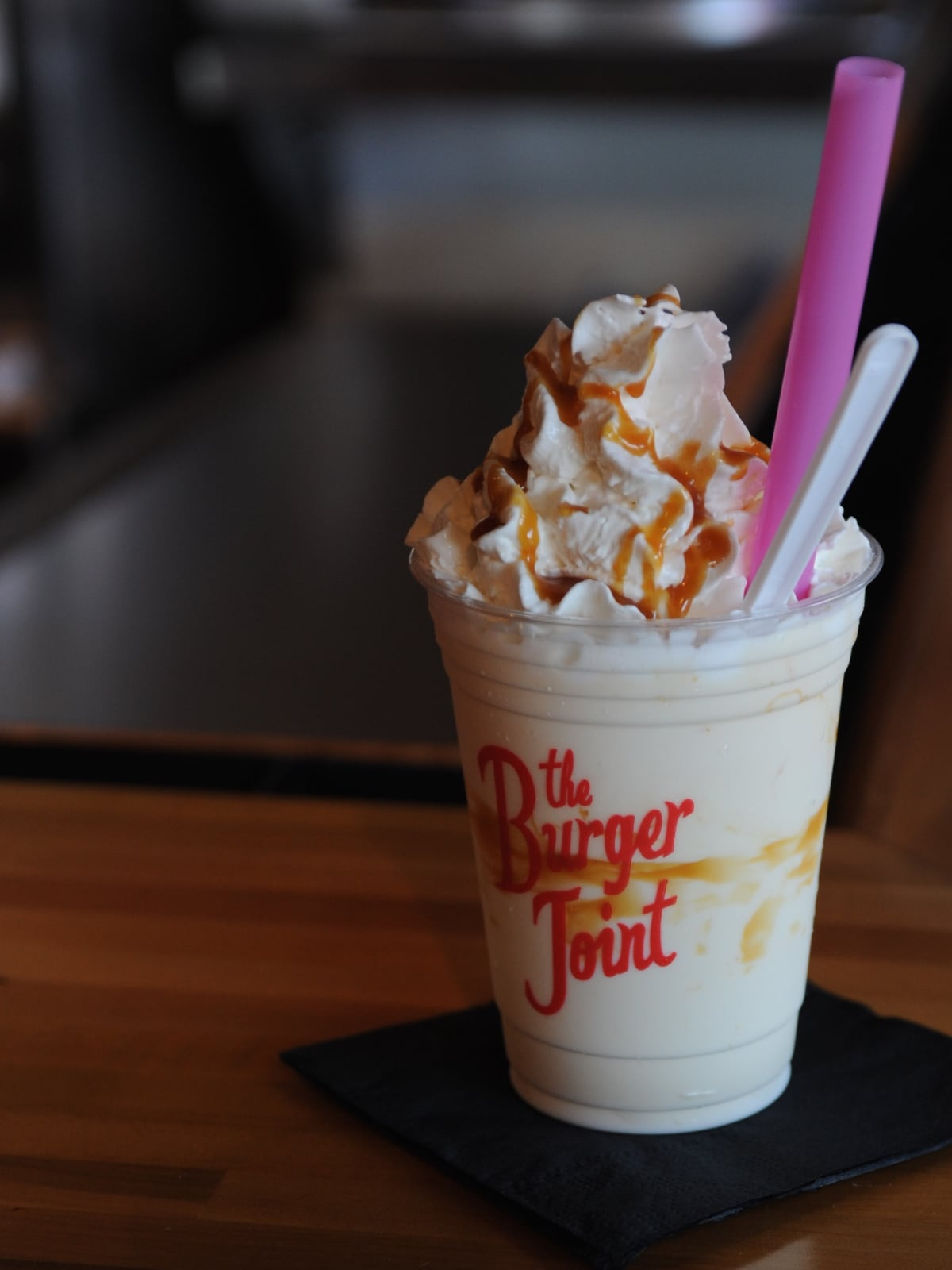 The Burger Joint salted caramel milkshake