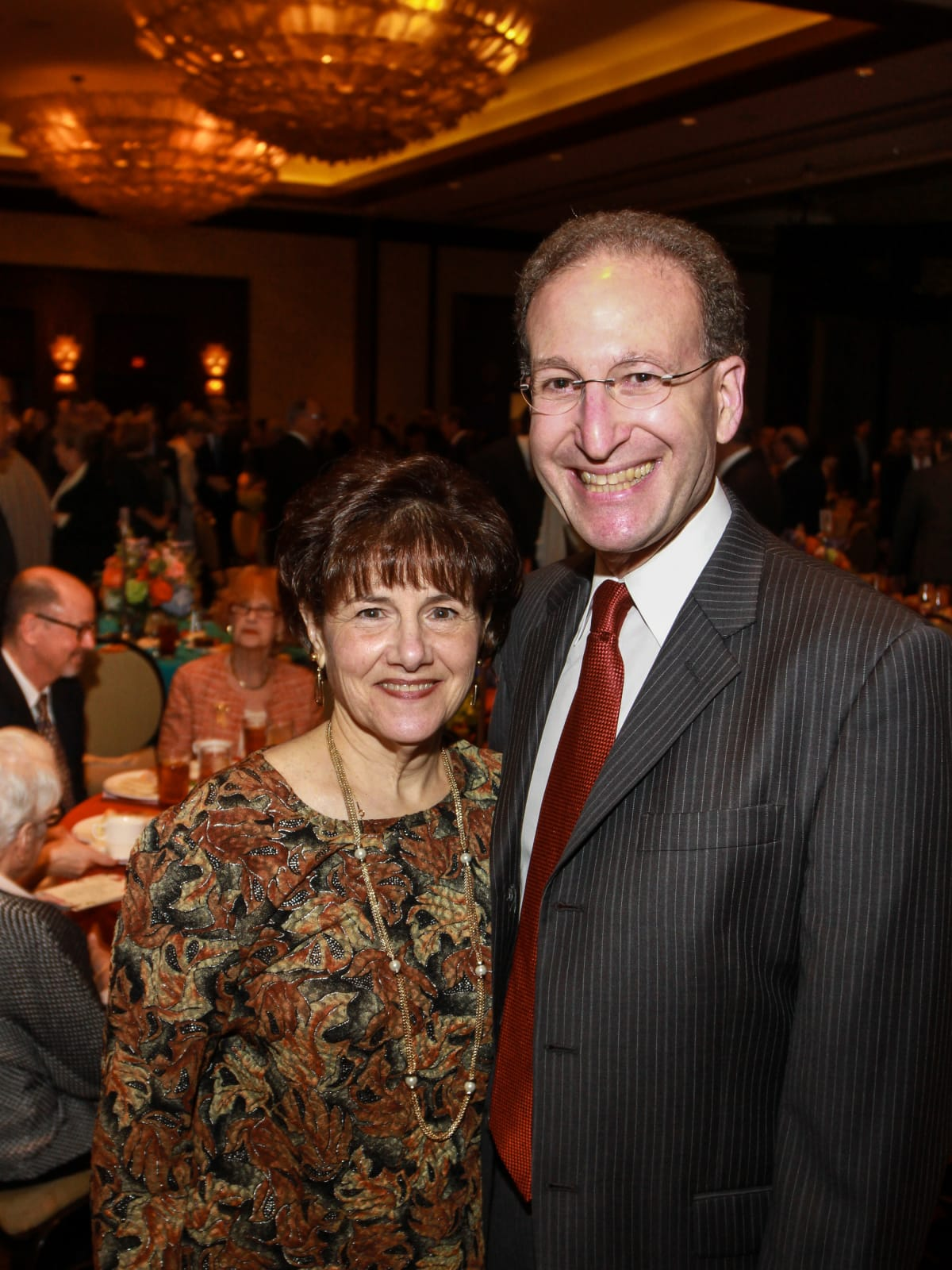 News, Shelby, Holocaust museum luncheon, Nov. 2015,  GF_228 Lynn Gordon, Dr. Hy Penn.