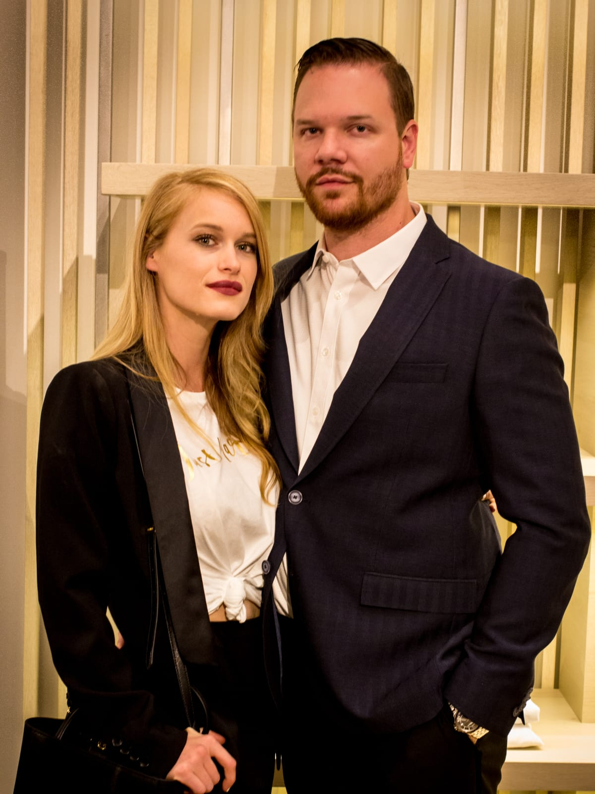 News, Shelby, Intermix opening, Oct. 2015 Leven Rambin, Jim Parrack