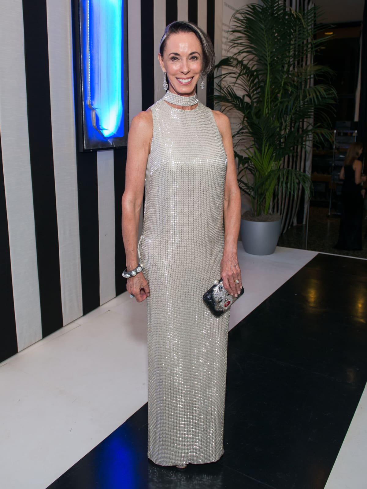 News, Shelby, MFAH gala gowns, Oct. 2015 Sue Smith in Tom Ford