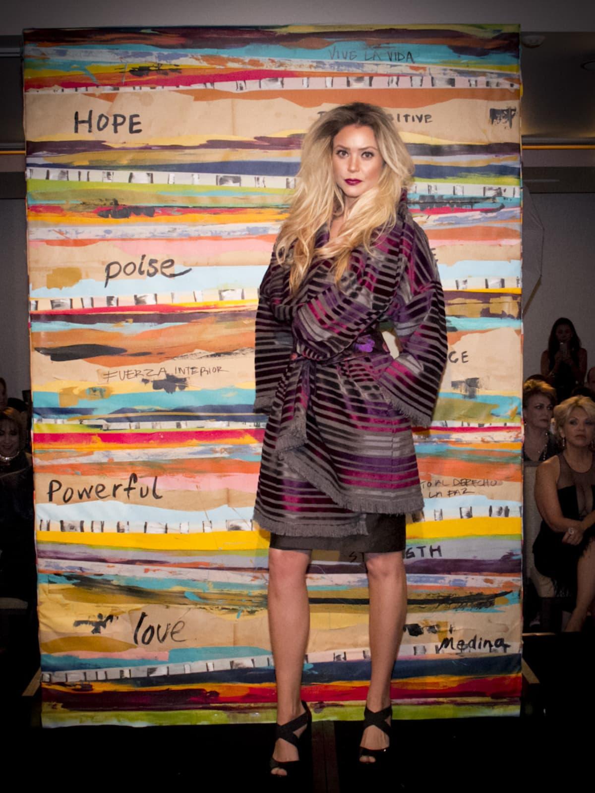 News, Shelby, Pedro Abasolo fashion show, Oct. 2015, Chloe Dao design