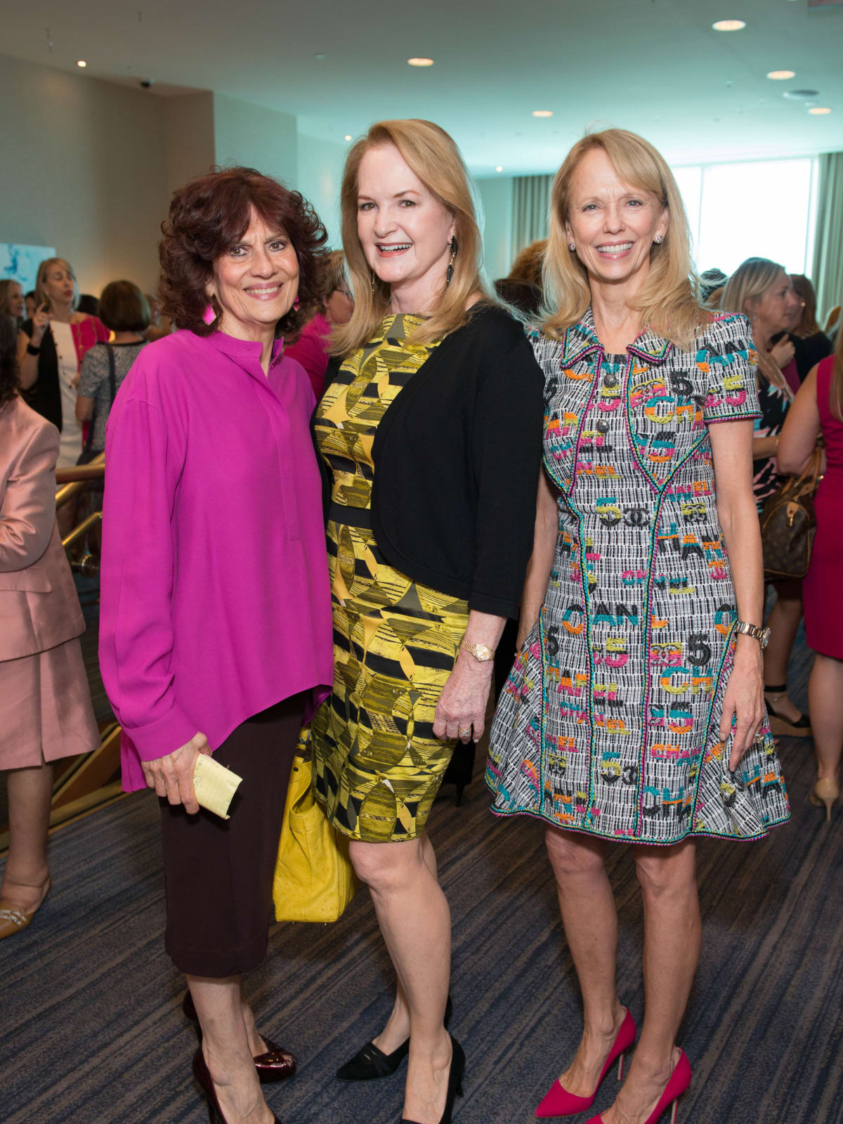 News, Shelby, Razzle Dazzle Memorial Hermann, Oct. 2015 Donna Vallone, Sandy Barrett and Susan Sarofim
