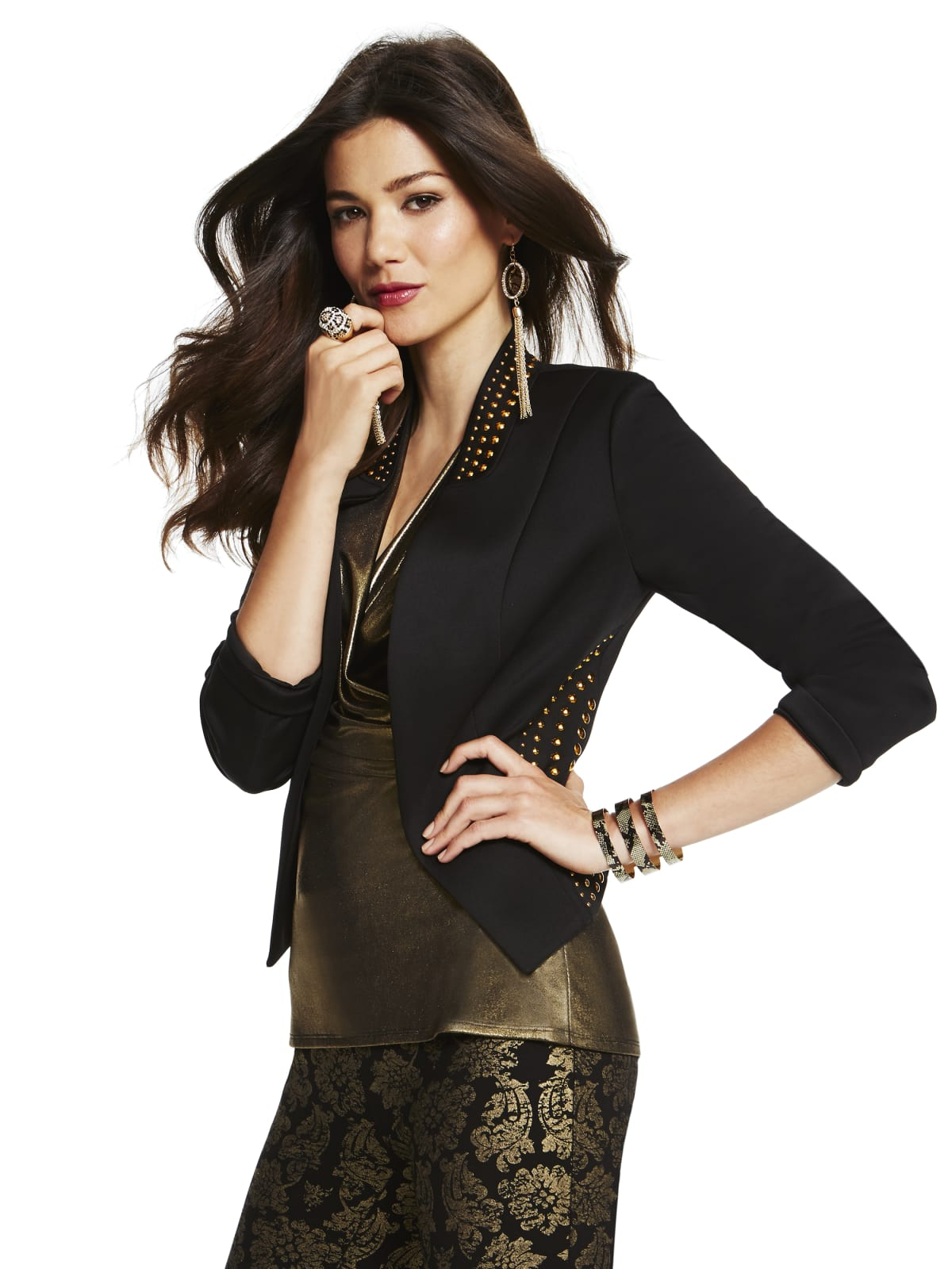 Jacket and pants from the Thalia collection at Macy's