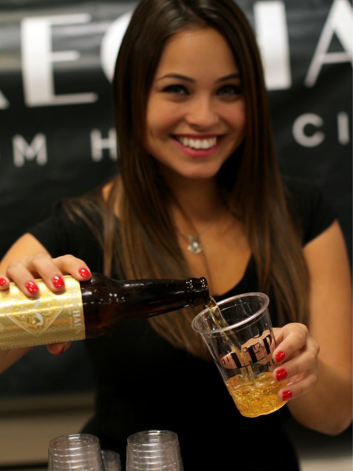 Leprechaun Cider girl
