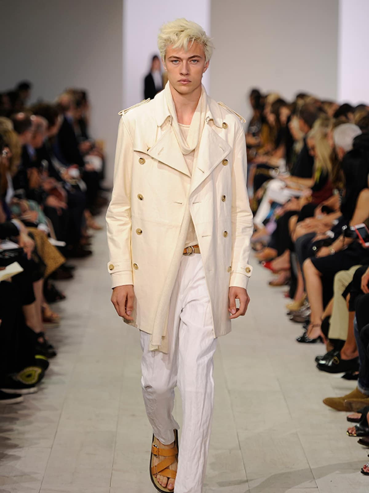 Lucky Blue runway model at Michael Kors show