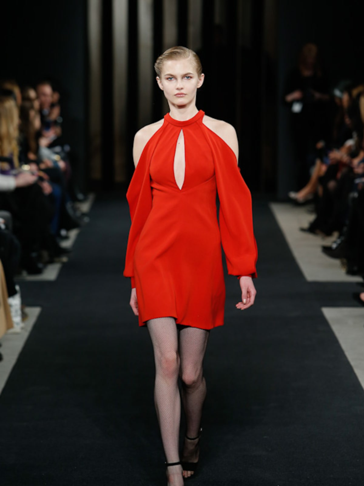 J Mendel fall 2015 collection red dress