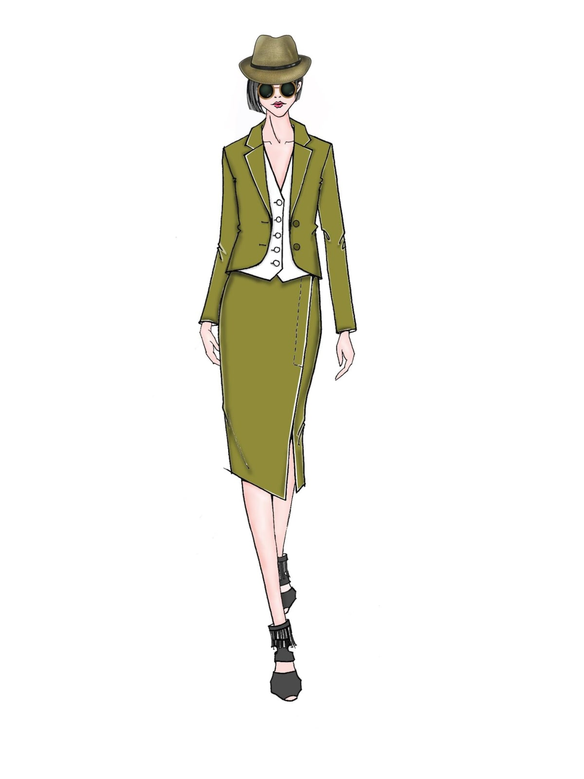 Taoray Wang inspiration sketch New York Fashion Week spring 2016