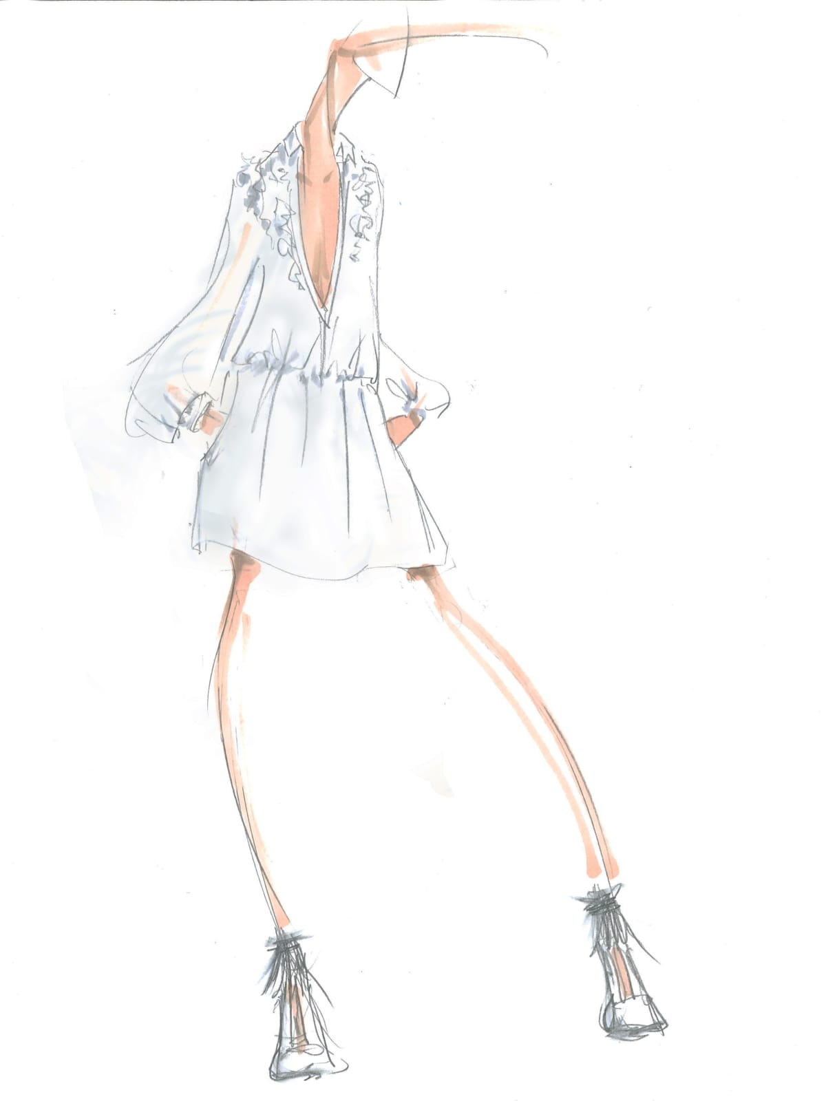 BCBG Max Azria inspiration sketch fall 2016 collection New York Fashion Week