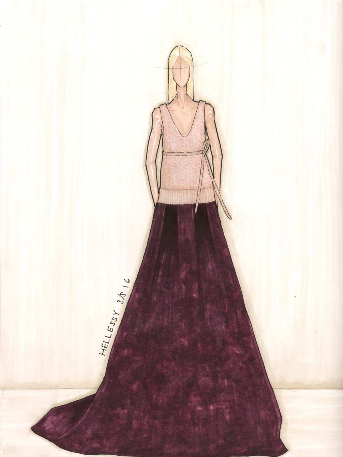 Hellessy designer Sylvie Millstein spring 2016 sketch New York Fashion Week