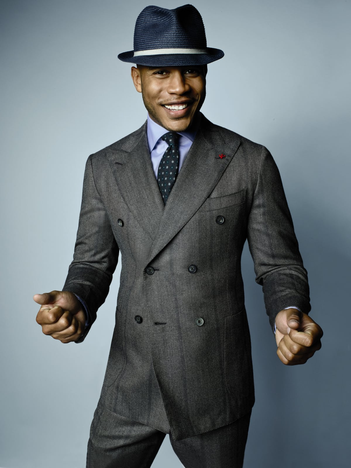 Saks Fifth Avenue fall magalog Trai Byers