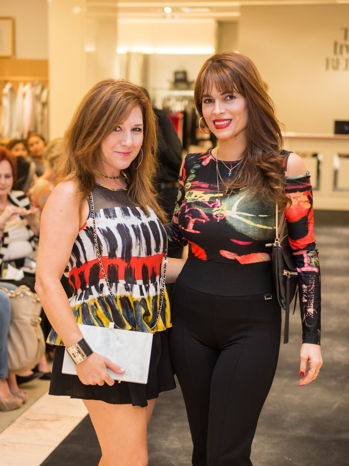 Donae Chramosta and Karina Barbieri at Neiman Marcus Trend Event