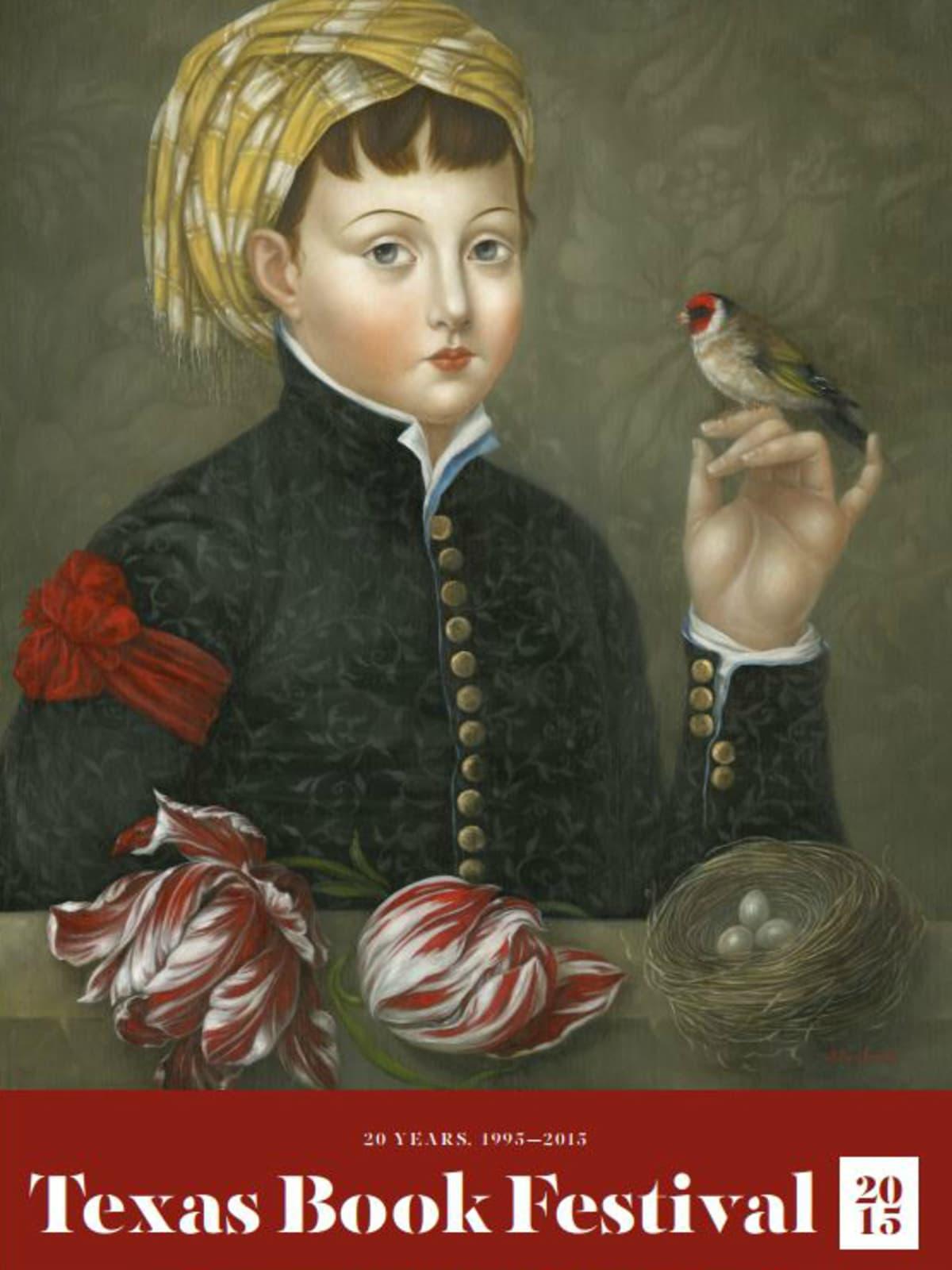 Texas Book Festival 20th anniversary Fatima Ronquillo poster CROPPED 2015