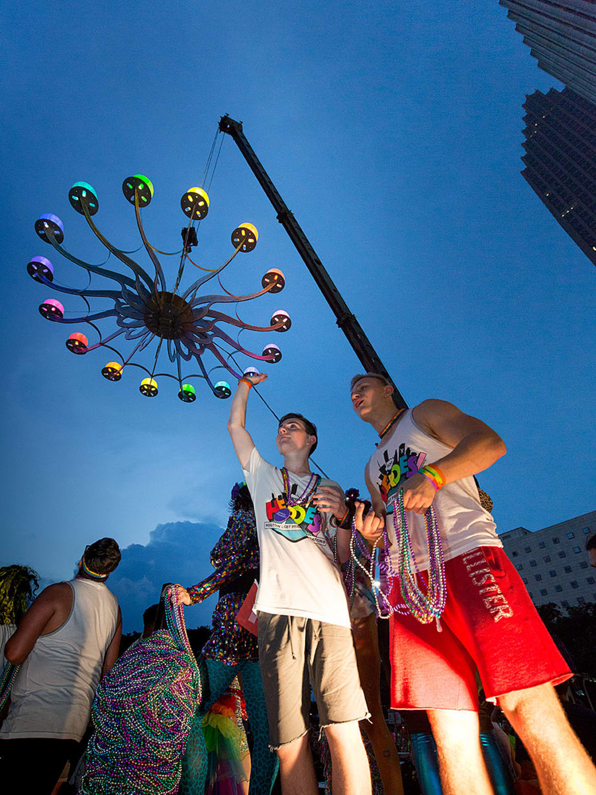 Houston Pride 2015 parade chandelier