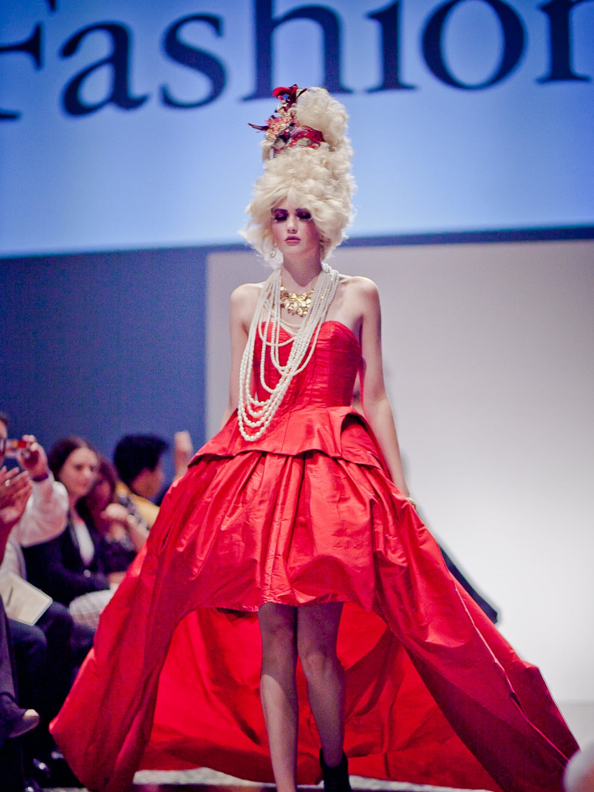 Houston, Fashion Fusion, June 2015, red gown by Teresa Rangel second place