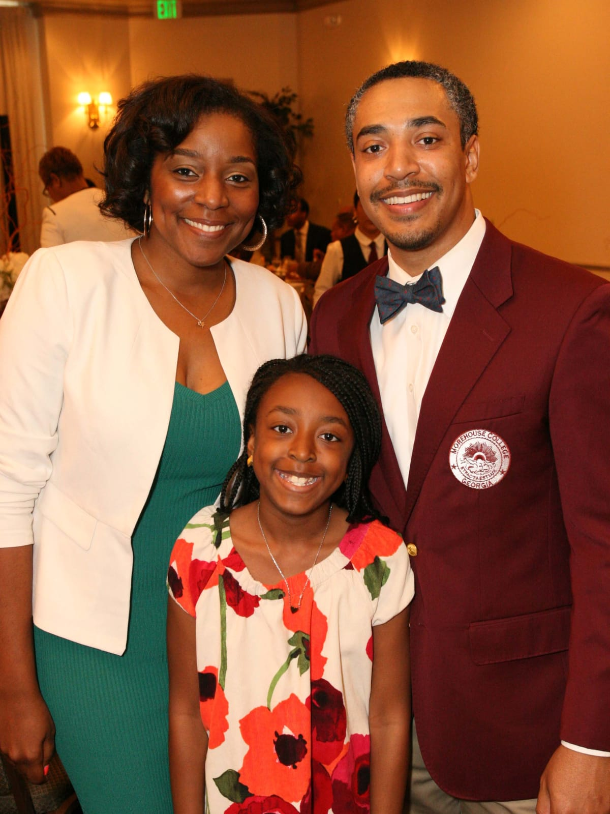 News, Shelby, Morehouse College Father's Day event, June 2015, LaToshia Norwood, Will Norwood, Lily Norwood