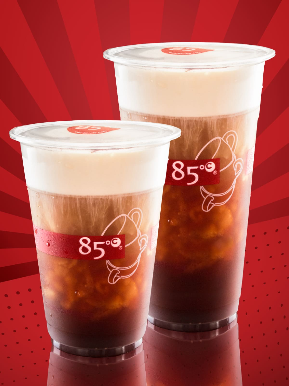 85C Bakery Cafe sea salt coffee