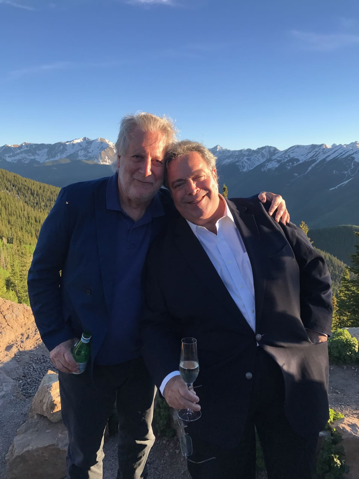 Jonathan Waxman with Drew Neiporent at Aspen Food & Wine festival