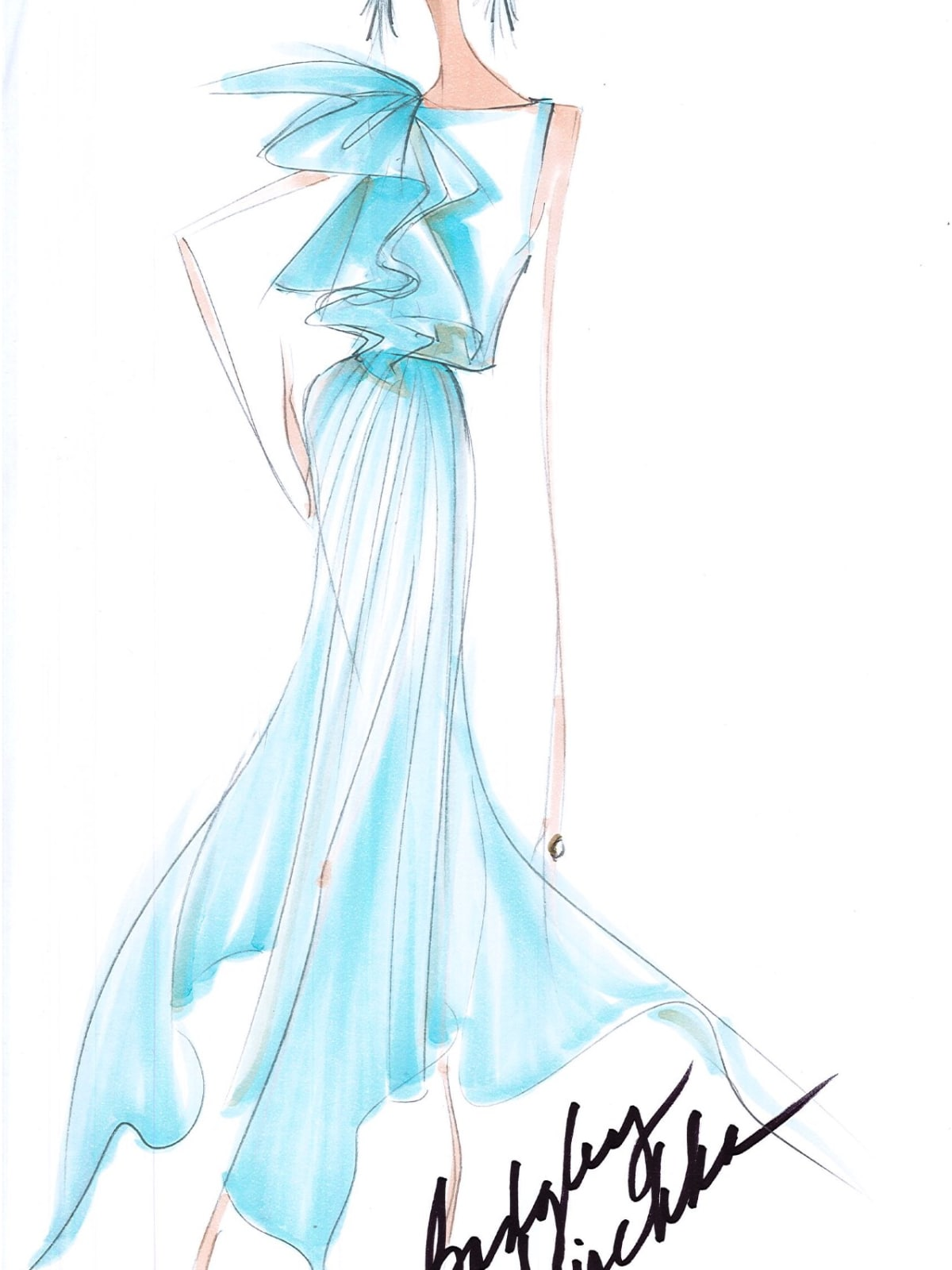 Badgley Mischka designer inspiration spring 2018