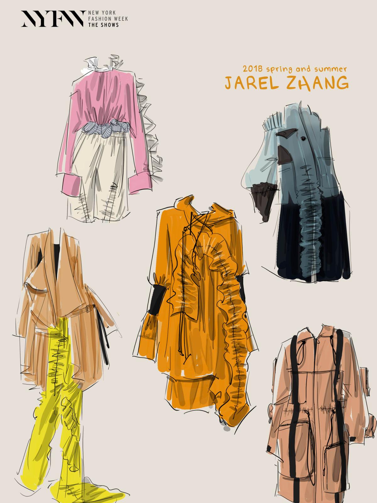 Jarel Zhang designer inspiration sketch spring 2018