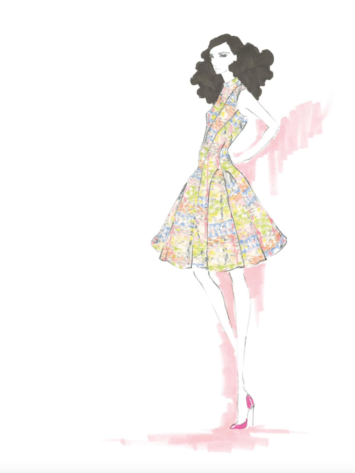 Kimora Lee Simmons inspiration sketch spring 2018