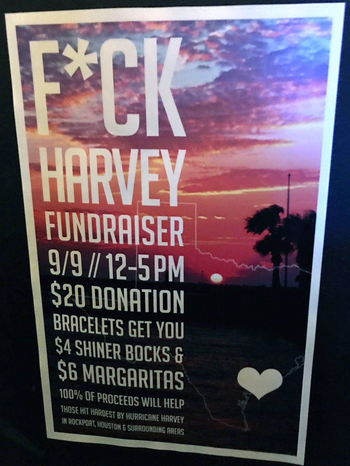 Harvey fundraiser New York, Avenida Cantina, September 2017