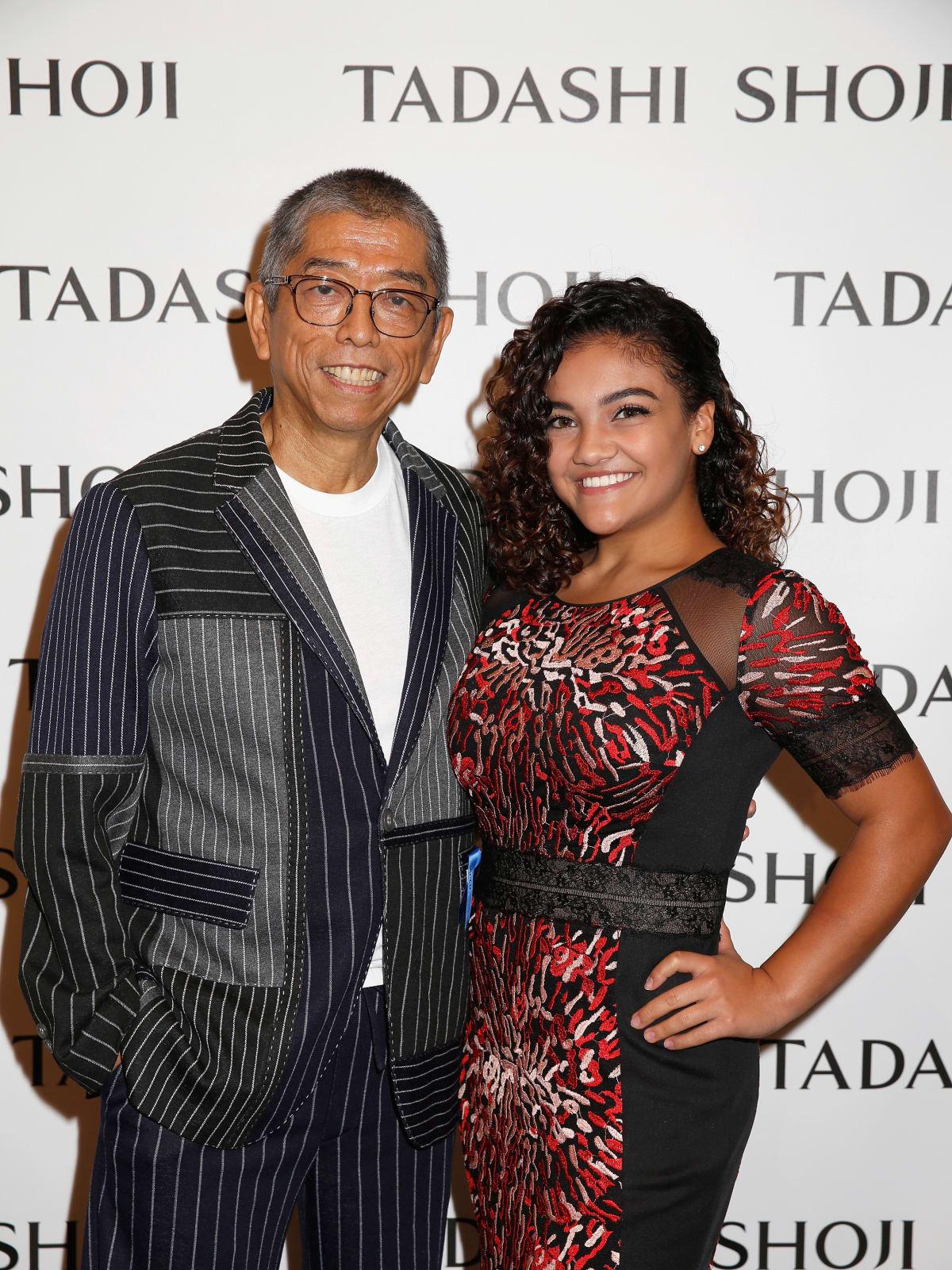 Tadashi Shoji and Laurie Hernandez