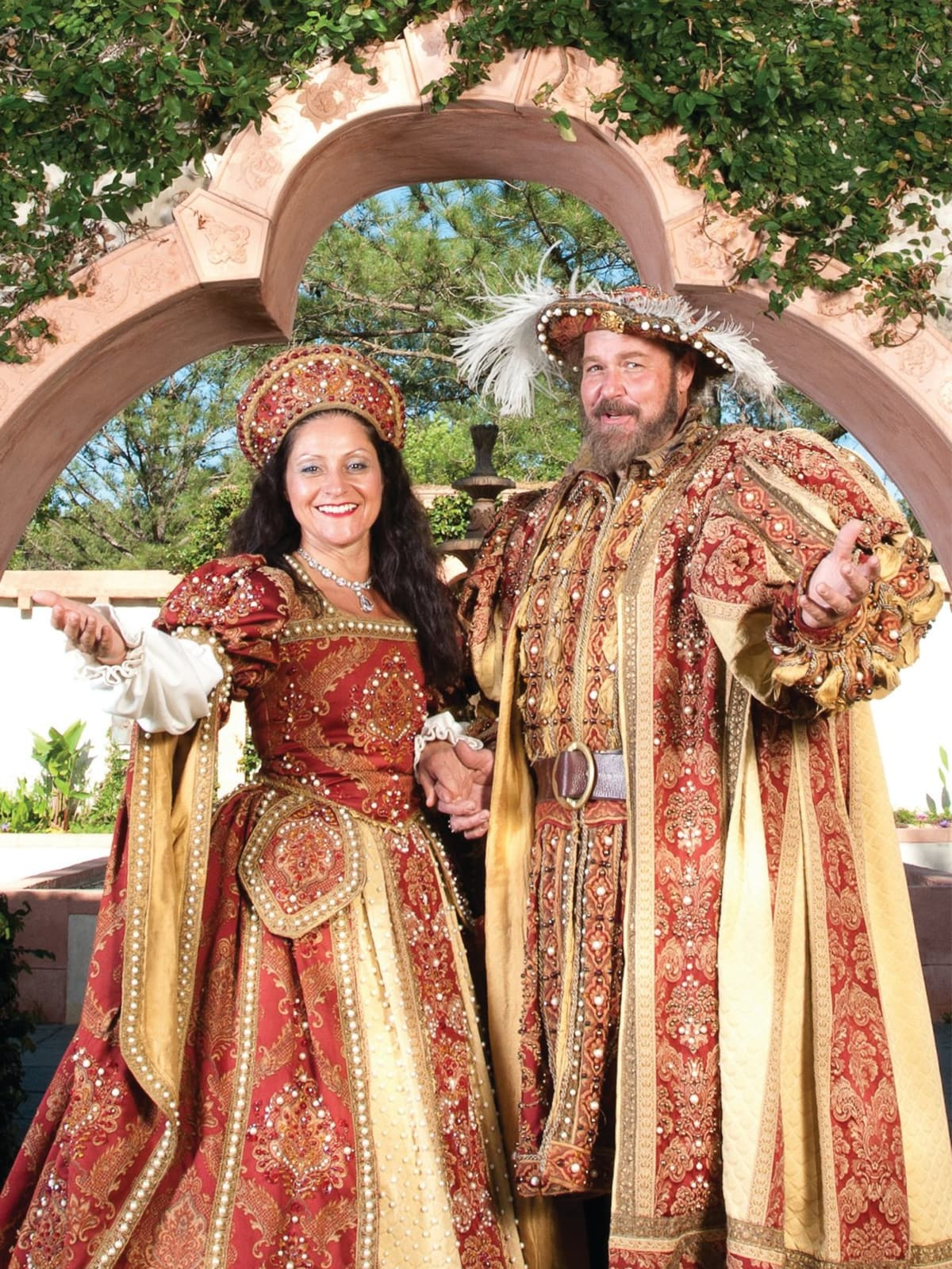 Texas Renaissance Festival king and queen