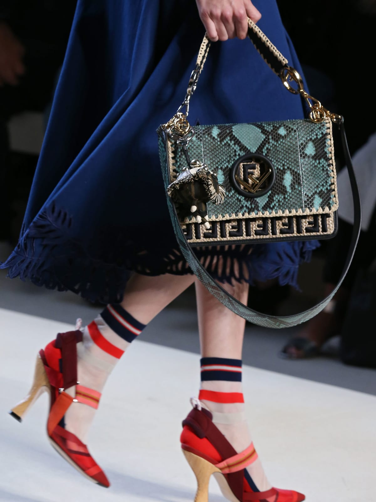 Closeup of Fendi bag spring 2018
