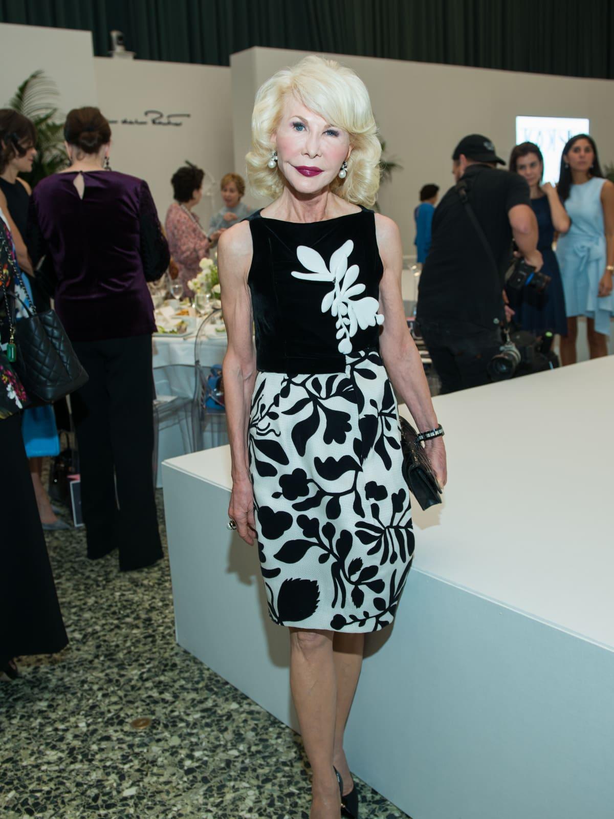 Diane Lokey Farb at Oscar de la Renta fashion show at MFAH