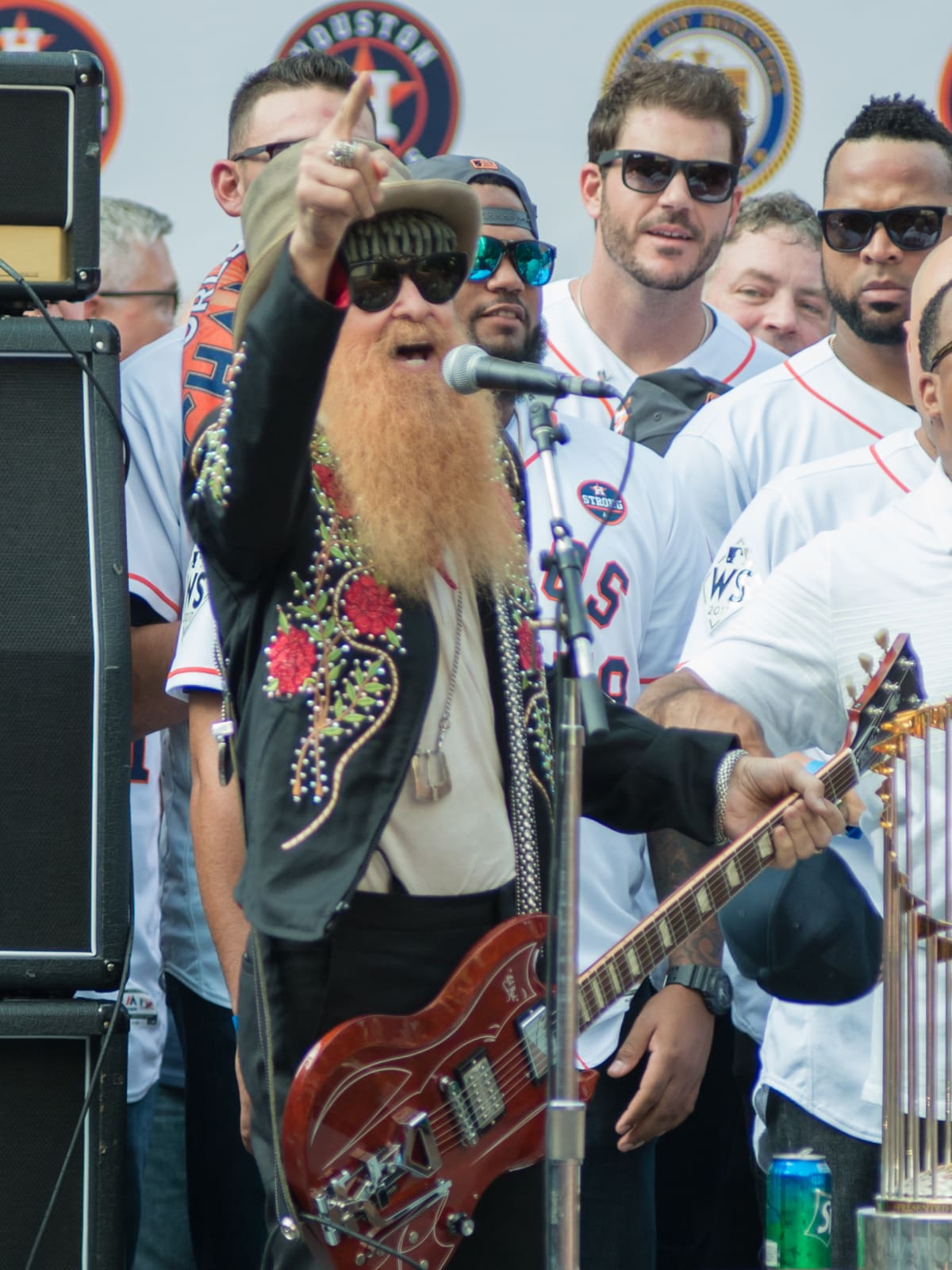 Astros World Series victory parade and rally, BIlly Gibbons
