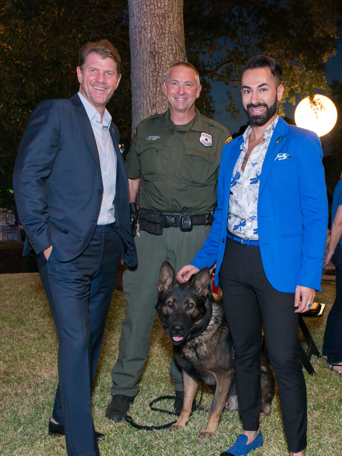 Houston, True Blue Gala, November 2017, Bill Baldwin, officer Jeff Michael with Bullet, Fady Armanious