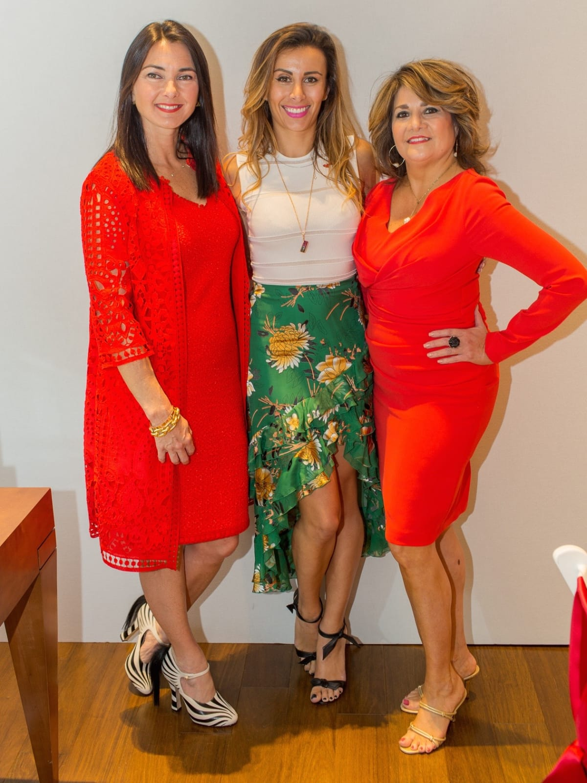 Dawn Cornell, Jewelry Designer Katherine Jetter, Vincette Vidaurri at Circle of Red