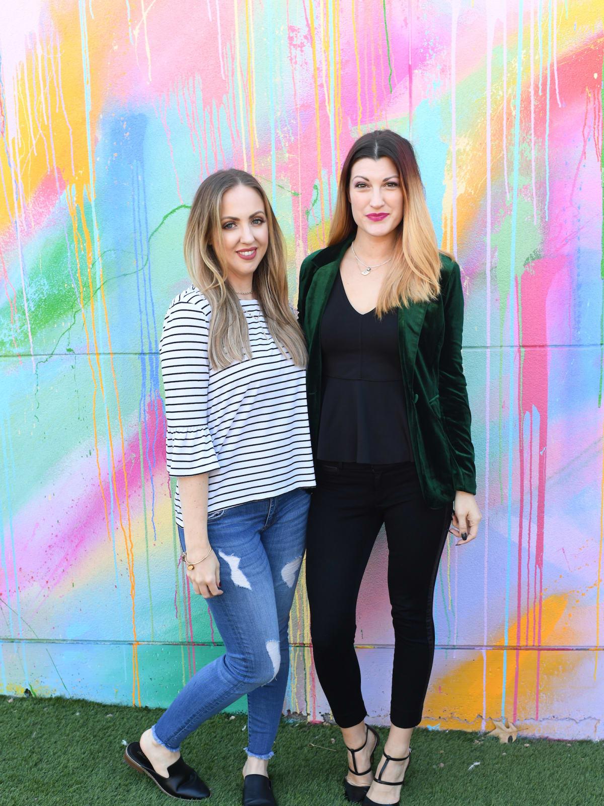 Meg Owen, Megan Pastor at launch of More Color Please