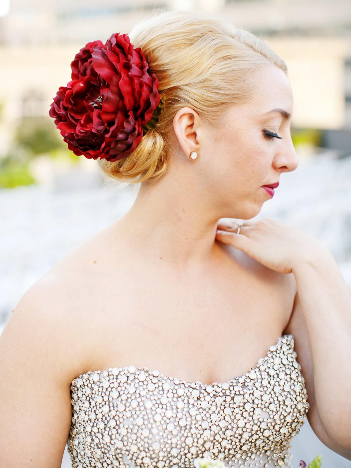 Womack wedding, bride