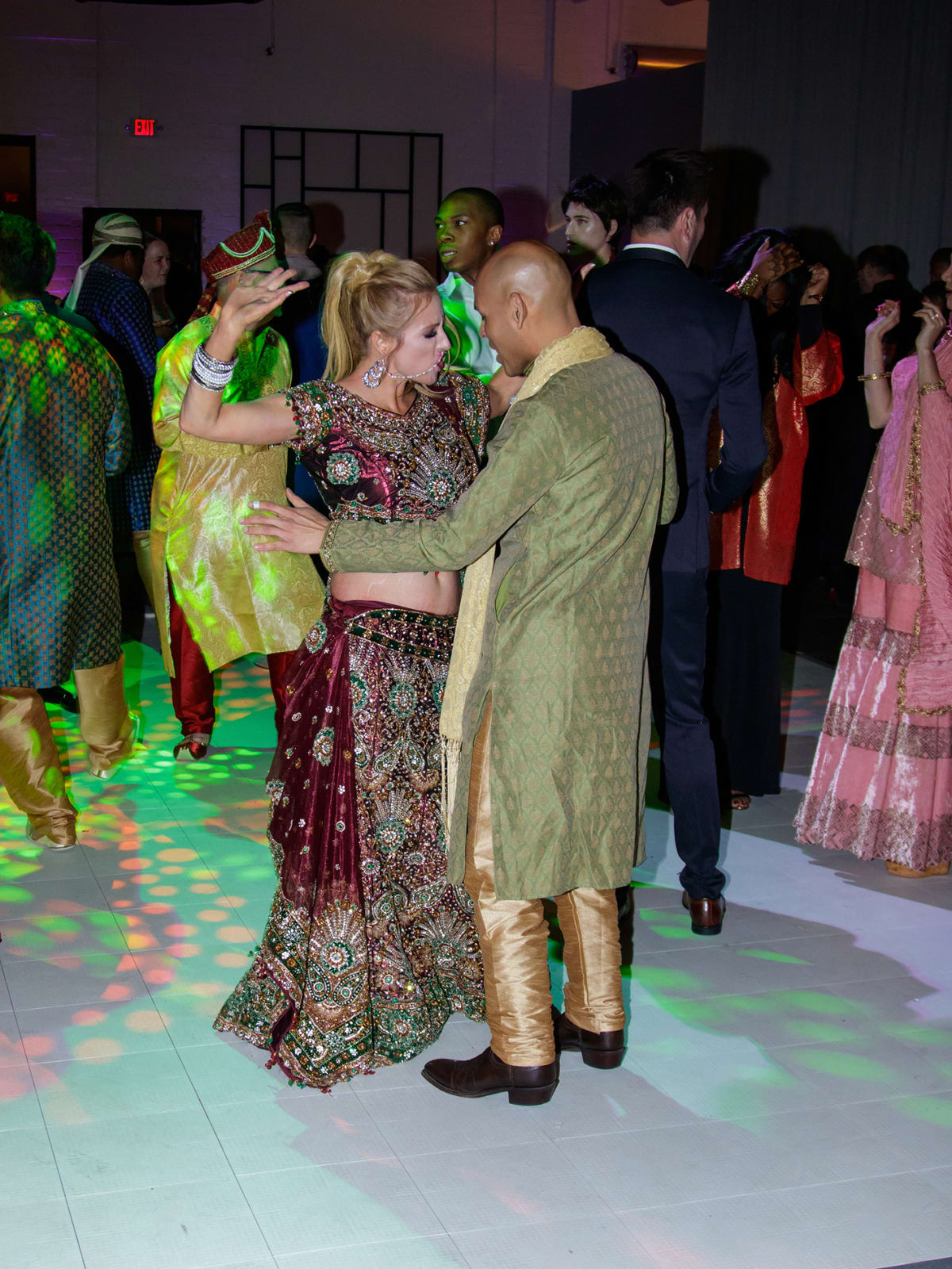 People dancing at Toast to Life 2018 Bollywood