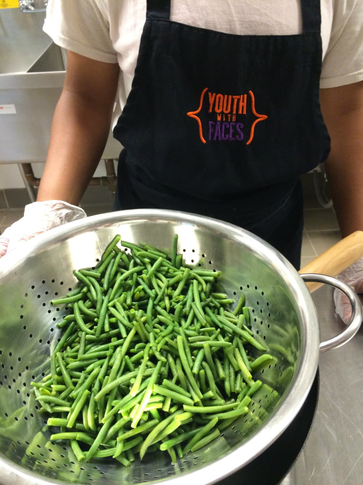 Youth in the culinary program learn how to cook and prepare healthy foods